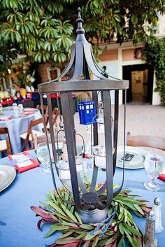 Doctor Who Tardis Geek Wedding Centerpiece - Rebel Belle Weddings