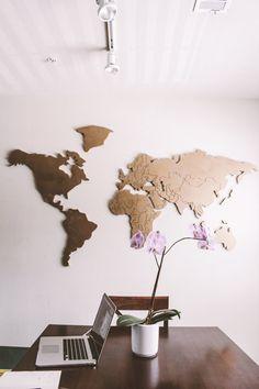 Custom 3D world map by worlddesing on Etsy