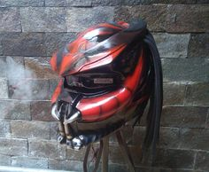 Awesome Predator Helmet Motorcycle Street Fighter Mix Carbon and Roving Material DOT Approved by CelloShancangHelmet on Etsy