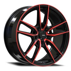 KONIG® - MYTH Gloss Black with Red Tinted Clear Coat. The wheel can be ordered in diameters. Choose your rim width, offset, bolt pattern and hub diameter from the option list. Ford Fusion Custom, Konig Wheels, Cheap Wheels, Rims For Sale, Mustang Wheels, Winter Tyres, Aftermarket Wheels, Racing Stripes, Custom Wheels