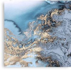 'Blue and Gold Marble' Canvas Print by Roxx Inc Marble Painting, Marble Art, Gold Marble, Blue Marble Wallpaper, Canvas Wall Art, Canvas Prints, Blue Artwork, Foil Art, Frame Wall Decor