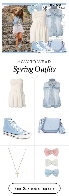 """#93 Spring To Summer"" by charlotte-sk on Polyvore featuring Rare London, Kate Spade, Converse, Gucci and Decree"