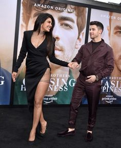 Priyanka Chopra Arrived in a Sultry High Leg Slit Dress With Nick Jonas at His 'Chasing Happiness' Premiere Formal Dresses For Teens, Formal Dresses For Weddings, Priyanka Chopra Hot, High Slit Dress, Jonas Brothers, Nick Jonas, Bollywood Actors, Celebs, Celebrities