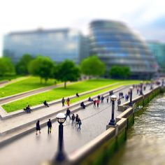 A view from the Tower Bridge, London. #tilt-shift #photography