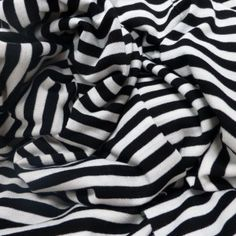 GREY AND WHITE STRIPED VISCOSE LYCRA AND SILVERY-JERSEY FABRIC-SOLD BY THE METER
