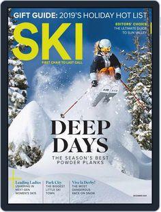 Ski December 1st, 2019 Digital Back Issue Cover Ski Magazine, Best Powder, December 1st, Sun Valley, Park City, Skiing, Author, Digital, Cover