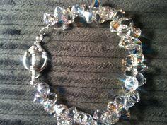 Genuine Swarovski Crystal  Crystal AB Rock Candy Bracelet...sparkles more than a real diamond!