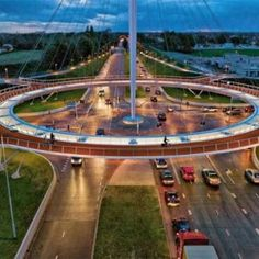 Floating Suspension Bridge Lets Cyclists Fly Over Traffic