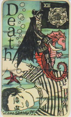 Dame Darcy Mermaid Tarot - Death. major arcana. tarot cards. divination. fortune telling. oracle. Get her beautiful deck at her DameDarcy shop on Etsy!