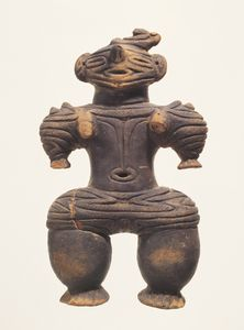 Dogū (Clay figurine) (Excavated from Sugisawa site, Yuza-machi, Akumi-gun, Yamagata) Baked clay H 18.3 Jōmon period 10th-4th century B.C.