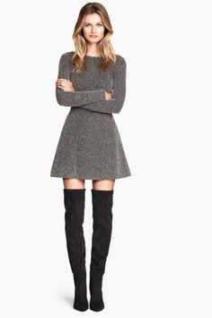 Jaquardkleid - Herbst/Winter - Home Cute Dresses, Casual Dresses, Short Dresses, Casual Outfits, Cute Outfits, Ladies Dresses, Maxi Dresses, Dress Outfits, Fall Outfits