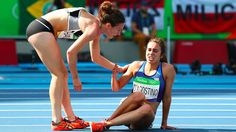 The runners who helped each other up in Rio got sportsmanship awardsThe two distance runners who helped each other cross the line after a fall have received an award for their sportsmanship.  Image: Ian Walton/Getty Images  By Johnny Lieu2016-08-22 07:28:07 UTC  They may have not won the race but theres no doubt that distance runners Abbey D'Agostino and Nikki Hamblin have won plenty of hearts at the Rio Olympics.  New Zealander Hamblin and D'Agostino from the U.S. both fell after being…