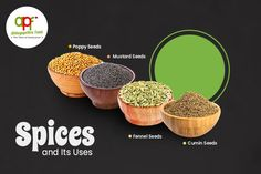 It's no secret that Indian cooking most always includes spices. In fact, spices are the soul of Indian Kitchen. If it is a simple or special dish, the use of a certain type of spice is guaranteed. Every spice has its unique flavor and also used for health and medicinal purposes. Here, top four Healthy Indian Spices and its benefits. #atchayapathrafoods #apf #Madurai #Foods #Fooddelivery #Homemadefood #homecookedfood #spices Indian Kitchen, Madurai, Fennel Seeds, Mustard Seed, Spices, Foods, Dishes, Type, Cooking