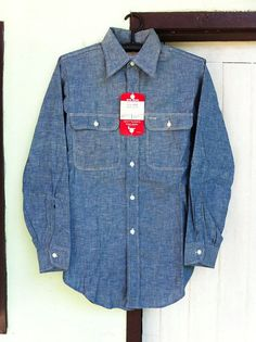 Vtg BIG MAC Chambray shirt Sz.14.5 Deadstock by BIGVINTAGEHITSTORY