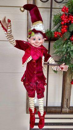 Resultado de imagen para how to decorate with elves Elf Decorations, Elf Christmas Decorations, Whimsical Christmas, Magical Christmas, Elegant Christmas, Beautiful Christmas, Christmas Home, Handmade Christmas, Christmas Elf Doll