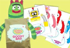 Yo Gabba Gabba! Goody bags for your next birthday party! #YoGabbaGabba