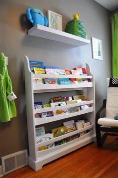 Modern green & grey nursery children's bookshelf