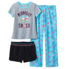 "SO ""Midnight Snack"" Pajama Set - Girls 7-16"