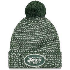 half off 6c43e c5c88 New York Jets New Era Women s Frosty Cuff Pom Knit Hat – Green