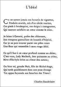 Baudelaire - L'Idéal