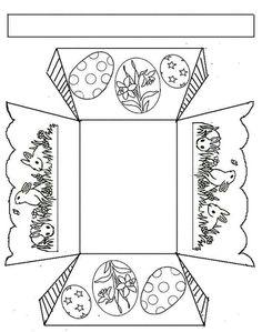 Easter Basket Crafts For Kids Arts And Crafts Instructions 2015 Easter Basket Template, Easter Templates, Easter Printables, Printable Crafts, Easter Art, Easter Crafts For Kids, Easter Bunny, Easter Coloring Pages, Basket Crafts