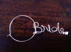 The Bridal Hub: Wine glass charm