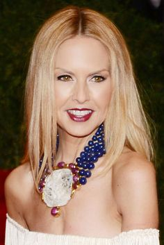 Rachel Zoe Gemstone Statement Necklace - Rachel Zoe attended the Met Gala wearing a glamorous statement necklace featuring yellow gold, diamonds, carved rubies, antique carved jade and lapis beads. Rachel Zoe, Dark Lips, Bijoux Diy, Celebs, Celebrities, Fashion Stylist, Swagg, Statement Jewelry, Beauty Hacks