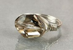 Wire+Wrapped+Ring+Sterling+Silver+with+Silver+by+Twist21trinkets,+$18.00