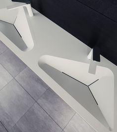 Le Projet have designed a modern bathroom sink that has contemporary crisp lines and geometric shapes. Modern Bathroom Sink, Small Bathroom, Master Bathroom, Bathrooms, Washroom Design, Sink Design, Bathroom Renovation Cost, Bedroom Minimalist, Concrete Sink