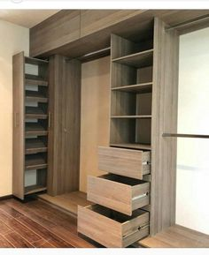 Whether you are living in a family-sized, multi-story house or in an apartment with just a couple of rooms, storage will always be an issue that you have Bedroom Cupboard Designs, Room Design Bedroom, Home Room Design, Wardrobe Design Bedroom, Master Closet Design, Master Bedroom Closet, Wardrobe Room, Wardrobe Cabinets, Closet Renovation