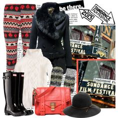 Sundance Film Festival Style Contest by alaria on Polyvore featuring J.Crew, Jane Norman, Dorothy Perkins, Hunter, Proenza Schouler, rag & bone, Olsen, women's clothing, women's fashion and women