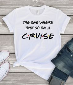 The one where they go on a cruise friend tv show shirt tank | Etsy