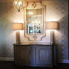 Julie Mays Interiors featuring HARP & FINIAL's BILTMORE MIRROR. #entry #foyer #interiordesign