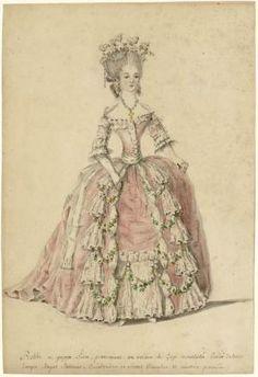 Lavender Robe a la Francaise- The Making Of Rococo Fashion, French Fashion, Vintage Fashion, Mode Rococo, Rococo Style, Historical Costume, Historical Clothing, Historical Dress, Centre De Documentation