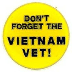 "Don't Forget The Vietnam Vet Pin 1"" by FindingKing. $8.99. This is a new Don't Forget The Vietnam Vet Pin 1"""