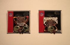 NFL SUPER BOWL 38 XXXVIII Pins CHAMPIONS & SUPER BOWL Dueling Helmets NE vs NC