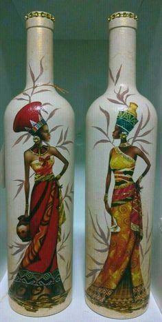 icu ~ 37 Fantastic DIY Vase Make You Home Special and Unique Glass Bottle Crafts, Wine Bottle Art, Painted Wine Bottles, Diy Bottle, Empty Bottles, Glass Bottles, Wine Glass, Perfume Bottles, Decoupage Jars