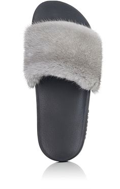 7f0489aa4d4f Givenchy Mink Fur Slide Sandals