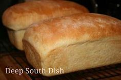 Amish White Bread for the KitchenAid - a fantastic recipe for homemade white bread.