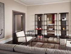 Beau Lincoln Park Luxury High Rise Model Apartments Designed By Holly Hunt  Interiors Eclectic Family Room