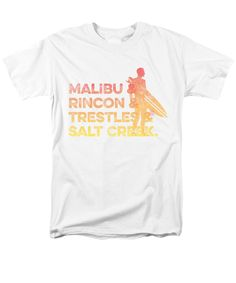 Malibu T-Shirt featuring the digital art Malibu And Rincon And Trestles And Salt Creek 2 by SoCal Brand