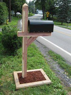 Cedar Post Mailbox Planter Diy Ideas Wooden Makeover