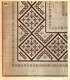 This Pin was discovered by Yeş Vintage Embroidery, Beaded Embroidery, Cross Stitch Embroidery, Embroidery Patterns, Cross Stitch Charts, Cross Stitch Patterns, Embroidery Alphabet, Bargello, Knitting Designs