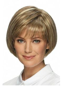 Short Bob Hairstyles Women's Straight Human Hair Wigs With Bangs Lace Front Cap Wigs Wavy Bob Hairstyles, Haircuts With Bangs, Short Hairstyles For Women, Bob Haircuts, Cropped Hairstyles, Hairstyle Short, Spring Hairstyles, Hairstyles 2016, Vintage Hairstyles