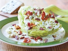 I must try this becau… Applebee's Copycat Recipes: Green Goddess Wedge Salad. I must try this because I love Applebee's Wedge Salad! Applebee's Restaurant, Restaurant Recipes, Applebees Recipes, Copycat Recipes, Cooking Recipes, Healthy Recipes, Salad Recipes, Healthy Dishes, Healthy Salads