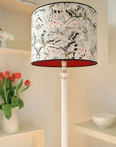 A contemporary candlestick/vintage style floor lamp by Timorous Beasties. I love bold and vibrant patterns which add colour to an otherwise plain interior. Choosing the right accessories/colours can really can revive a home.