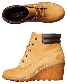TIMBERLAND EARTHKEEPER AMSTON WEDGE BOOT - WHEAT 2b9f8cf1e8