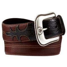 Western men's belts come with a traditional buckle style.