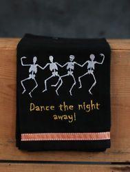 Park Designs Halloween Kitchen Towel Dancing Skeletons Embroidered Dishtowel