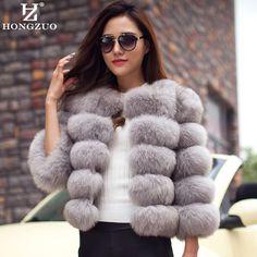 新しい到着2016ファッション女性毛皮のコート高品質フェイクキツネパッチワーク毛皮ショートコート女性の冬暖かいジャケットパーカーPC148
